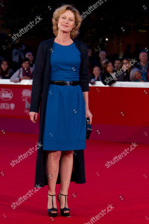 """Astrid Whettnall Belgian actress Astrid Whettnall poses on the red carpet of the movie """"Little Glory"""", at the 6th edition of the Rome International Film Festival in Rome"""