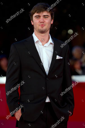 "Stock Image of Canadian actor Cameron Bright poses on the red carpet of the movie ""Little Glory"", at the 6th edition of the Rome International Film Festival in Rome"