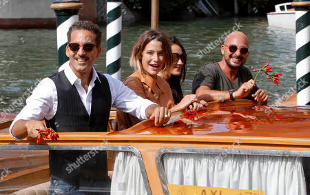 Giuseppe Fiorello, Martina Codecasa and Tiziana Lodato From left, actors Giuseppe Fiorello, Martina Codecasa and Tiziana Lodato and director Emanuele Crialese arrive at the 68th edition of the Venice Film Festival in Venice
