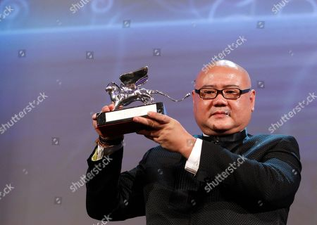 Cai Shangjun Director Cai Shangjun with the Silver Lion award for Best Director for the film People Mountain people Sea during the award ceremony of the 68th edition of the Venice Film Festival in Venice, Italy
