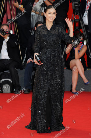 Shengyi Huang Chinese actress Shengyi Huang arrives on the red carpet for the film Contagion at the 68th edition of the Venice Film Festival in Venice, Italy
