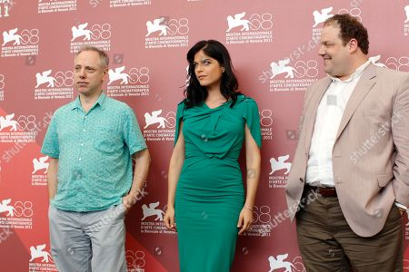 Todd Solondz, Selma Blair, Jordan Gelber From left, director Todd Solondz, actress Selma Blair, and actor Jordan Gelber pose during the photo call for the movie Dark Horse at the 68th edition of the Venice Film Festival in Venice, Italy