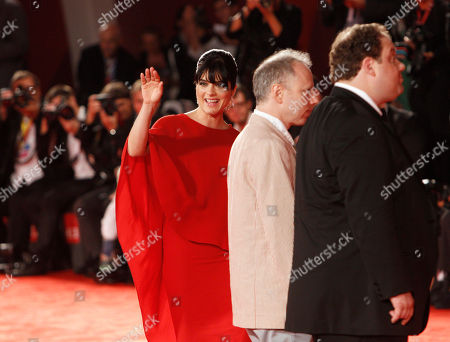 Todd Solondz, Selma Blair, Jordan Gelber From right, actor Jordan Gelber, director Todd Solondz and actress Selma Blair arrive for the premiere of the film Dark Horse at the 68th edition of the Venice Film Festival in Venice, Italy