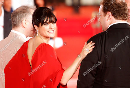 Todd Solondz, Selma Blair, Jordan Gelber From left, director Todd Solondz, actors Selma Blair and Jordan Gelber arrive for the premiere of the film Dark Horse at the 68th edition of the Venice Film Festival in Venice, Italy