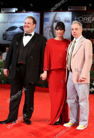 Todd Solondz, Selma Blair, Jordan Gelber From right, director Todd Solondz, actors Selma Blair and Jordan Gelber arrive for the premiere of the film Dark Horse at the 68th edition of the Venice Film Festival in Venice, Italy