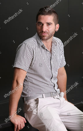 Stock Image of Guy Edoin French-Canadian Director Guy Edoin poses for portraits for the film Wetlands, his debut feature film, at the 68th edition of the Venice Film Festival in Venice, Italy