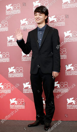 Shota Sometani Actor Shota Sometani poses during the photo call of the movie Himizu at the 68th edition of the Venice Film Festival in Venice, Italy