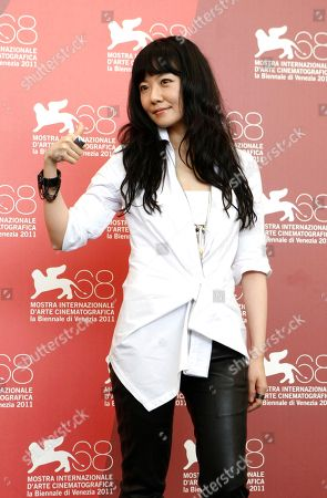Stock Photo of Stephanie Che Actress Stephanie Che poses during the photo call for the film Life Without Principle at the 68th edition of the Venice Film Festival in Venice, Italy