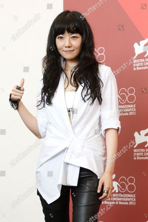 Stock Picture of Stephanie Che Actress Stephanie Che poses during the photo call for the film Life Without Principle at the 68th edition of the Venice Film Festival in Venice, Italy
