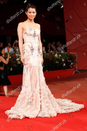 """Myolie Wu Actress Myolie Wu arrives for the screening of the film """"Life Without Principle"""" at the 68th edition of the Venice Film Festival in Venice, Italy"""