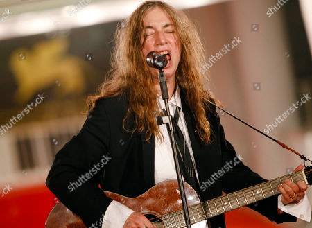 Patty Smith U.S. Singer Patty Smith performs on the red carpet of the 68th edition of the Venice Film Festival in Venice, Italy