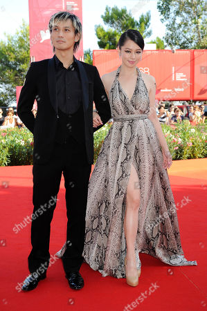 Vivian Hsu, Ando Masanobu From left actor Ando Masanobu and actress Vivian Hsu arrive for the premiere of the film 'Seediq Bale (Warriors of the Rainbow) at the 68th edition of the Venice Film Festival in Venice, Italy