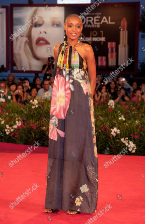 Stock Image of Irima Pino Viney Actress Irima Pino Viney arrives for the premiere of the film The Cardboard Village at the 68th edition of the Venice Film Festival in Venice, Italy