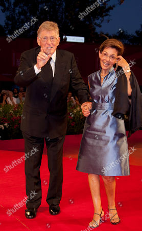 Stock Image of Ermanno Olmi, Loredana Detto Director Ermanno Olmi and his wife Loredana Detto arrive for the premiere of the film The Cardboard Village at the 68th edition of the Venice Film Festival in Venice, Italy