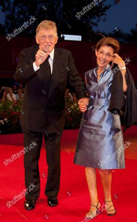 Ermanno Olmi, Loredana Detto Director Ermanno Olmi and his wife Loredana Detto arrive for the premiere of the film The Cardboard Village at the 68th edition of the Venice Film Festival in Venice, Italy