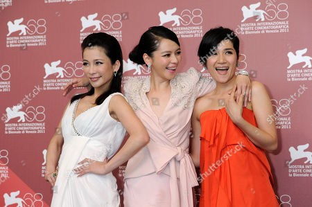 Landy Wen, Vivian Hsu and Lo Mei-Ling From left actor actresses Landy Wen, Vivian Hsu and Lo Mei-Ling pose at the photo call for the film 'Seediq Bale (Warriors of the Rainbow)at the 68th edition of the Venice Film Festival in Venice, Italy