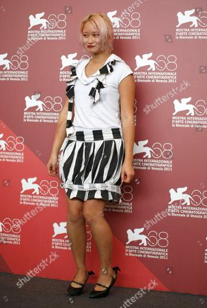 Valerie Tian Valerie Tian poses for the photo call of the movie 'The Moth Diaries' at the 68th edition of the Venice Film Festival in Venice, Italy