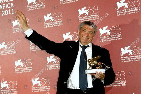 Aleksandr Sokurov Director Aleksandr Sokurov holds the Golden Lion for best film for Faust, during the winners' photo call of the 68th edition of the Venice Film Festival in Venice, Italy