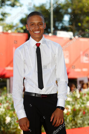 Stock Picture of Solomon Glave Actor Solomon Glave arrives for the screening of the movie Wuthering Heights at the 68th edition of the Venice Film Festival in Venice, Italy