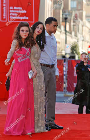 Kaya Scodelario, Shannon Beer, James Howson From left, actresses Shannon Beer, and Kaya Scodelario, and actor James Howson arrive for the screening of the movie Wuthering Heights at the 68th edition of the Venice Film Festival in Venice, Italy