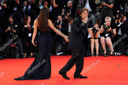 """Al Pacino, Lucila Sola U.S actor Al Pacino and girlfriend Lucila Sola arrive on the red carpet for the film Wilde Salome at the 68th edition of the Venice Film Festival in Venice, Italy. The 71st Venice Film Festival opens Wednesday, Aug. 27, 2014, bringing 11 days of high art and Hollywood glamour to the canal-crossed Italian city. Al Pacino stars in two Venice films, handily screening on the same day and both infused with bittersweet longing. In David Gordon Green's """"Manglehorn,"""" Pacino plays a small-town Texas locksmith pining over a long-lost love. In Barry Levinson's """"The Humbling"""" - adapted from a Philip Roth novel - he's an aging actor having an affair with a younger woman, played by Greta Gerwig"""