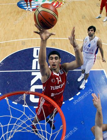 Enes Kanter Turkey's Enes Kanter throws on basket during the EuroBasket 2011, European Basketball Championships group E match between Serbia and Turkey in Vilnius, Lithuania, on