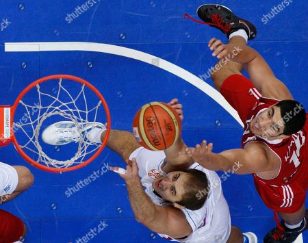 Nenad Krstic, Enes Kanter Enes Kanter, right, from Turkey challenges Nenad Krstic, left, from Serbia during the EuroBasket European Basketball Championship Group E match in Vilnius, Lithuania, . Serbia won the match 68-67