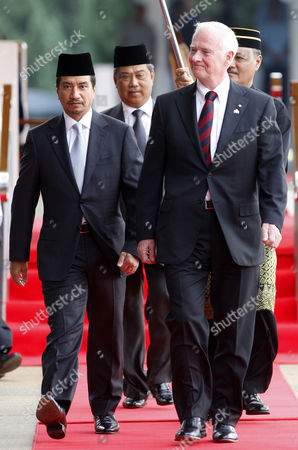 David Johnston, Mizan Zainal Abidin, Muhyiddin Yassin Governor General of Canada David Johnston, right, walks with Malaysia's King Sultan Mizan Zainal Abidin, left, and Malaysia's Deputy Prime Minister Muhyiddin Yassin during a welcoming ceremony at the Parliament Square in Kuala Lumpur, Malaysia, . Johnston is on a four-day state visit to Malaysia