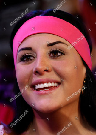 """Zuria Vega Mexican actress Zuria Vega, part of the cast of the new soap opera """"Un refugio para el amor"""" or """"A haven for love,"""" the latest production of the Mexican TV network Televisa, poses for pictures during a presentation to the press in Mexico City"""