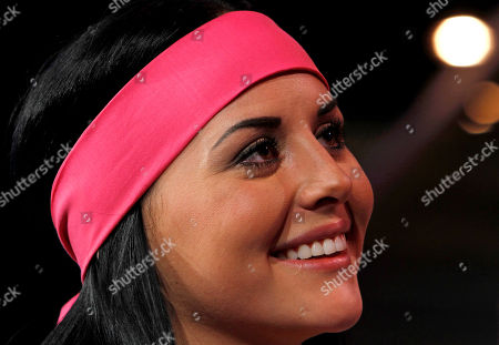 """Zuria Vega Mexican actress Zuria Vega, part of the cast of the new soap opera """"Un refugio para el amor"""" or """"A haven for love,"""" the latest production of the Mexican TV network Televisa, smiles as she poses for pictures during a presentation to the press in Mexico City"""