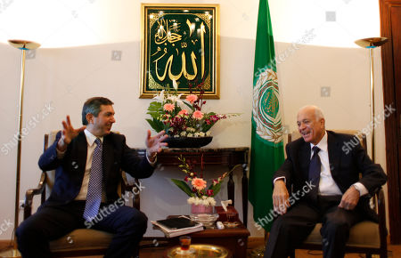 Stavros Lambrinidis, Nabil Elaraby Arab League Secretary General Nabil Elaraby, right meets with Greek Foreign Minister Stavros Lambrinidis at his office in Cairo, Egypt