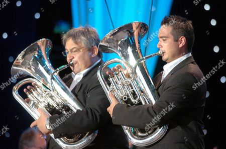 Euphonium father and son duo, Robert Childs (left) and David Childs