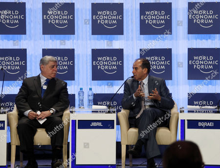 Mahmoud Jibril, Awn al-Khasawneh Jordan's Prime Minister Awn al-Khasawneh, left, speaks with Mahmoud Jibril, the prime minister of Libya's transitional government, during the World Economic Forum, at the Dead Sea, 34 Miles (55 Kilometers) southeast Amman, Jordan
