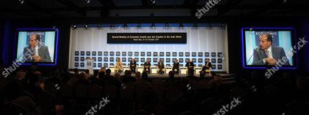 Mahmoud Jibril Mahmoud Jibril, the prime minister of Libya's transitional government, center, speaks during the World Economic Forum, at the Dead Sea, 34 Miles (55 Kilometers) southeast Amman, Jordan