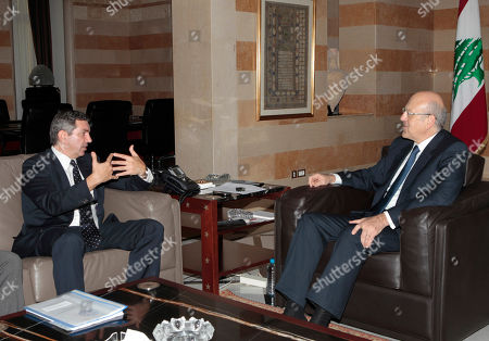 Najib Mikati, Stavros Lambrinidis Lebanese Prime Minister Najib Mikati, right, meets with Greek Foreign Minister Stavros Lambrinidis, left, in Beirut, Lebanon, on . Lambrinidis, who is heading a delegation that includes businessmen, is expected to urge Lebanon to invest in Greece