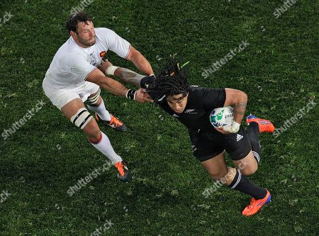 Ma'a Nonu, Lionel Nallet New Zealand All Blacks Ma'a Nonu, right, fends off France's Lionel Nallet during the Rugby World Cup final at Eden Park in Auckland, New Zealand