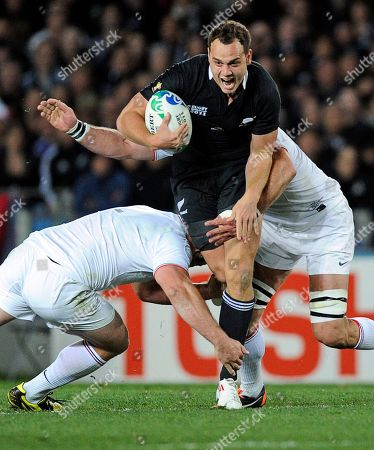 Israel Dagg, William Servat, Lionel Nallet New Zealand All Blacks Israel Dagg is tackled by France's William Servat and Lionel Nallet, right, during the Rugby World Cup final in Auckland, New Zealand