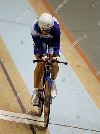 Argentina's Walter Perez pedals during the men's omnium 1km time trial cycling event at the Pan American Games in Guadalajara, Mexico