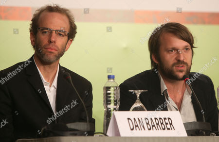 Dan Barber, Rene Redzepi Chef Rene Redzepi of Denmark, right, speaks at a news conference for the International Advisory Council of the Basque Culinary Center in Lima, Peru, . Chef Dan Barber is pictured at left
