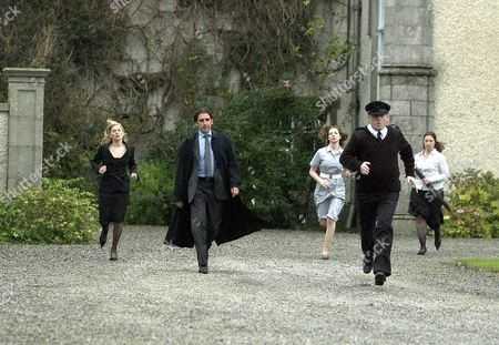 'The Baby War' - 2005 Irish politician John Lynch [Pierce O'Carroll-2nd left] is furious when he find that his baby son has been abducted by Lauren.