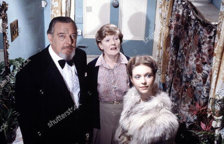 Stock Image of Rachel Kempson (centre) with Judi Bowker and Brewster Mason  in 'Tales Of The Unexpected' - 1981  Episode: 'The Best Of Everything'