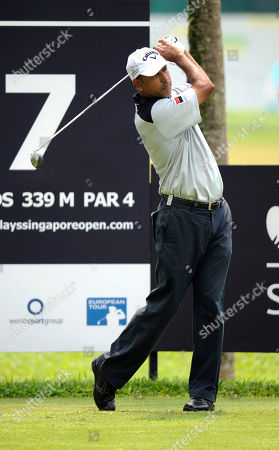 Jeev Milkha Singh India's Jeev Milkha Singh tees off in the first round of the Singapore Open golf tournament at the Tanjong Course in Singapore