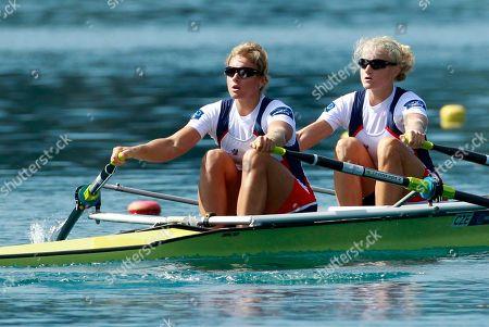 Jitka Antosova, Lenka Antosova Czech Republic's Jitka Antosova, left and Lenka Antosova compete in the Women's Double Sculls semifinals at the World Rowing Championships in Bled, Slovenia