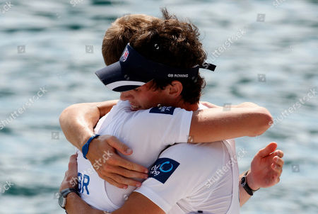 Peter Chambers, Kieren Emery Peter Chambers, left and Kieren Emery of Great Britain, celebrate after winning the Men's Lightweight Pair event at the Rowing World Championships in Bled, Slovenia, . Great Britain won the race ahead of second placed Italians and third placed Germans