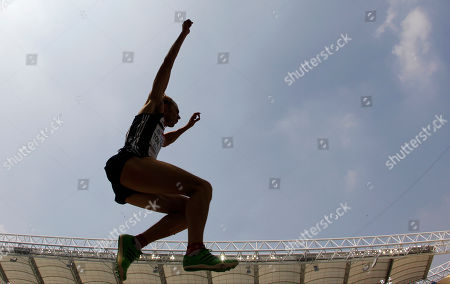 Britain's Christopher Tomlinson competes in the Men's Long Jump qualification round at the World Athletics Championships in Daegu, South Korea