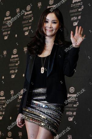 Ko So-young South Korean actress Ko So-young, South Korean actor Jang Dong-gun's wife, waves as she arrives at the Style Icon Awards in Seoul, South Korea