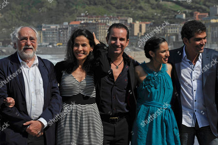 Arturo Ripstein, Arcelia Ramirez, Plutarco Haza, Pilar Padilla, Vladimir Ramirez From left, Mexican film director Arturo Ripstein poses with Mexican co-stars Arcelia Ramirez, Plutarco Haza, Pilar Padilla and Vladimir Cruz during the photo call to promote their film 'Las Razones del Corazon' (The Reasons of the Hearth), at the 59th San Sebastian Film Festival Cinema in San Sebastian northern Spain
