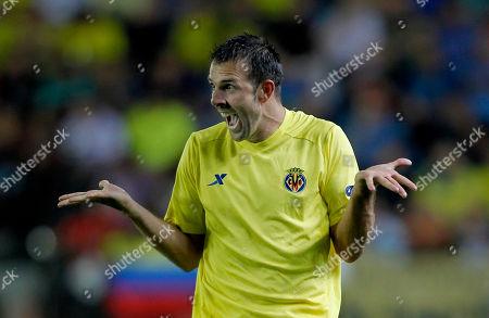 Carlos Marchena Villarreal s Carlos Marchena reacts during the group A Champions League soccer match against Bayern Munich at the Madrigal Stadium in Villarreal, Spain, . Bayern won 2-0