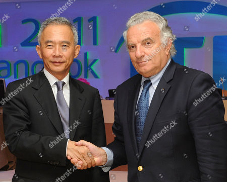 Francesco Ricci Bitti, Suwat Liptapanlop Francesco Ricci Bitti of Italy, right, is congratulated by chief of Thai tennis association Suwat Liptapanlop after he was re-elected as president of the International Tennis Federation (ITF) at a meeting in Bangkok . Ricci Bitti was elected to a fourth four-year term and will serve until 2015