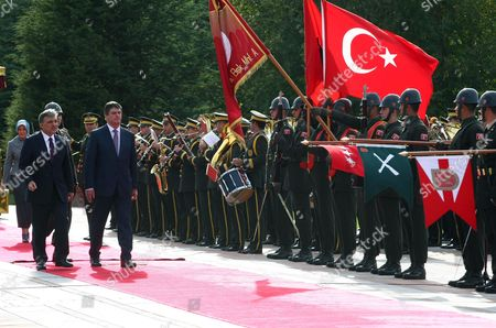 Abdullah Gul, Bamir Topi Turkish President Abdullah Gul, left, and his Albanian counterpart Bamir Topi inspect a military guard of honour during a ceremony at the Cankaya presidential palace in Ankara, Turkey